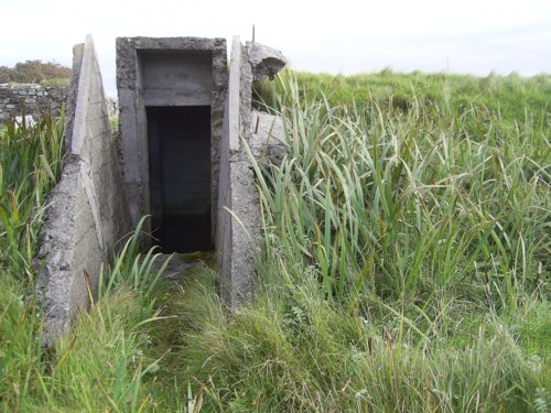 Entrance to air-raid shelter 1 at Rodel Camp