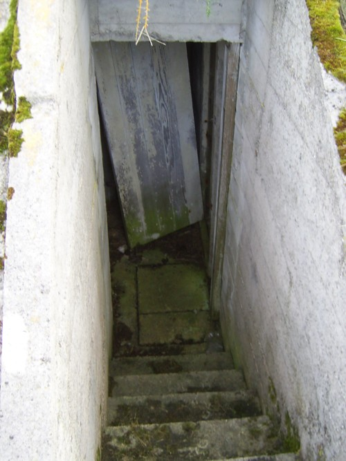 Entrance to air-raid shelter 2 at Rodel Camp
