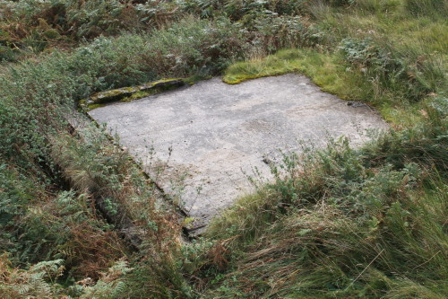 Concrete base of building beside