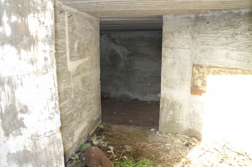 View of shelter inside gun emplacement