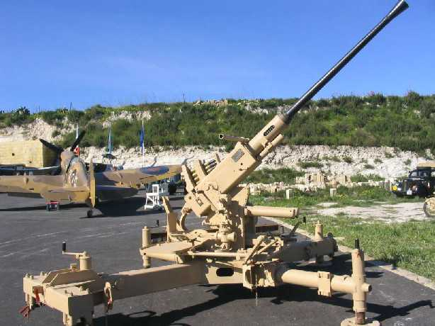 Restored 40mm l60 bofors gun in malta belonging to godwin hton