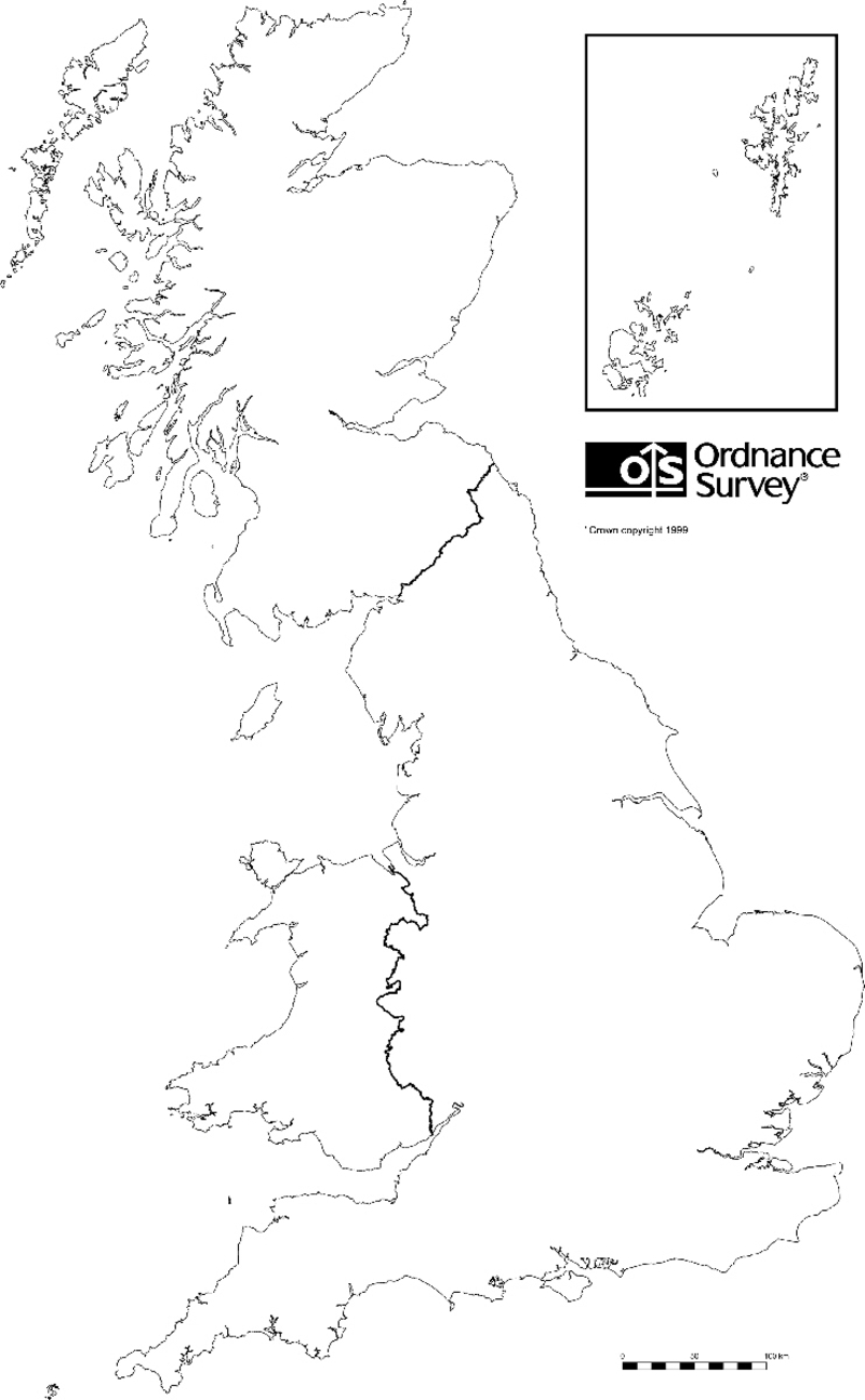 Counties Of England Free Printable Map Similiar Black And